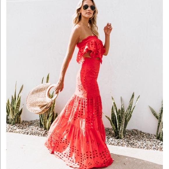 d2a7e75365e Skirts   Vici Send Me To Sayulita Maxi Skirt Size Small   Poshmark